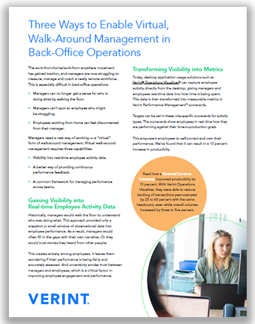 Three Ways to Enable Virtual, Walk-Around Management in Back-Office Operations
