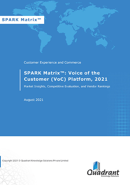 SPARK Matrix: Analysis of the Global Voice of the Customer (VoC) Platforms Market